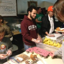 Ryan serving the homeless at Vigilant Hope
